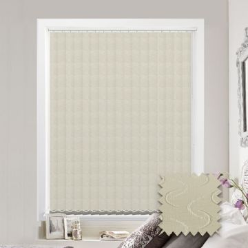 Vertical blinds - Made to Measure vertical blind in Lapwing Cream Blackout